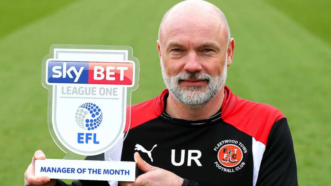 Uwe Rosler Named Sky Bet League One Manager Of The Month