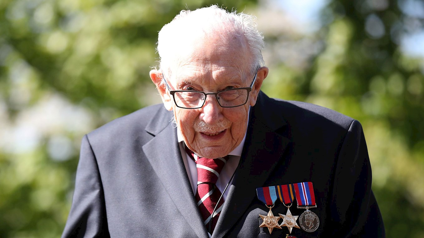 Watch Captain Toms pay tribute to Colonel Tom Moore