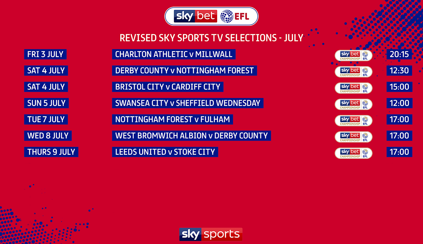 Sky bet championship games on tv basic horse betting explained synonym